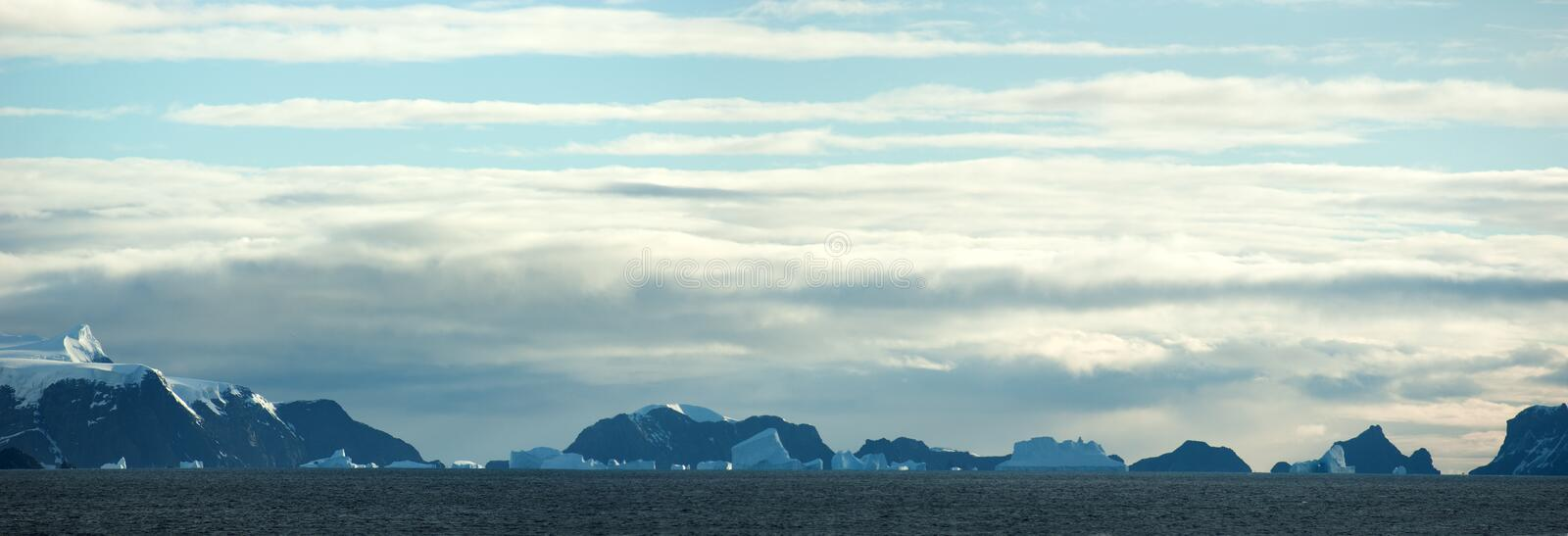Southern Orkney Islands in antarctic area