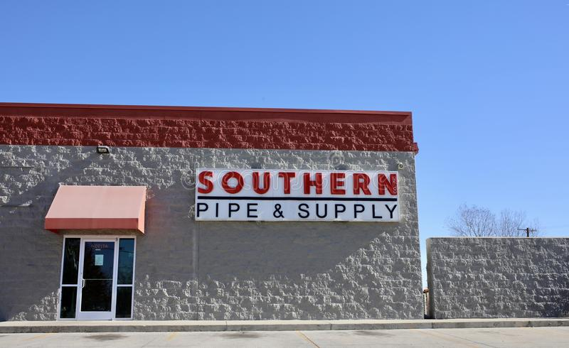 Southern Pipe and Supply, West Memphis, Arkansas. Southern Pipe and Supply sells Batteries & Battery Chargers; Circuit Protection Devices & Accessories; Conduit royalty free stock photo
