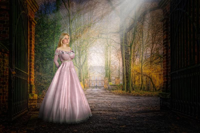 Southern Plantation, Belle, Fantasy, Surreal photos libres de droits