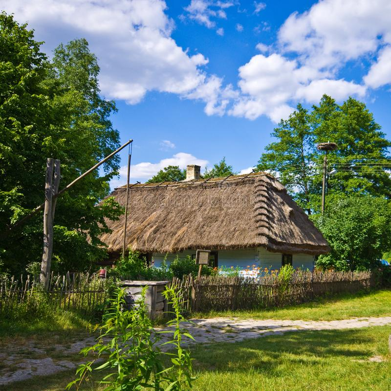 Rural village old house in southern Poland royalty free stock images