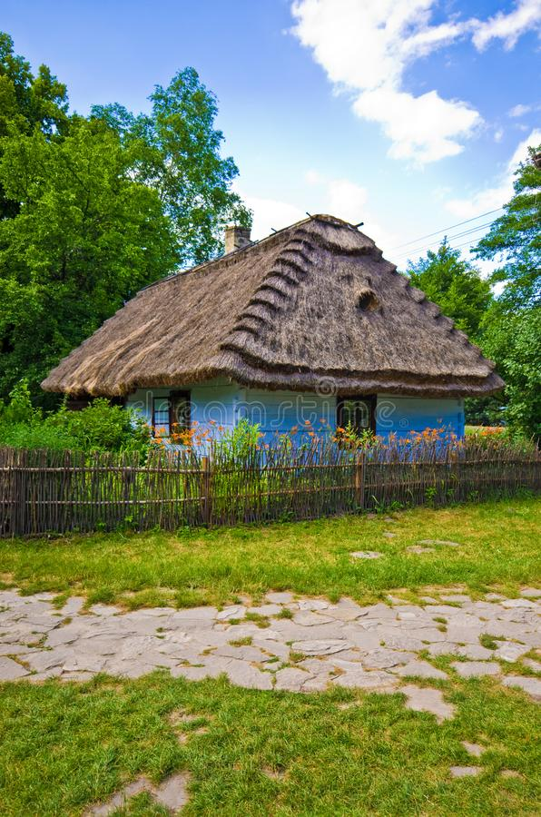 Rural village old house in southern Poland stock photos