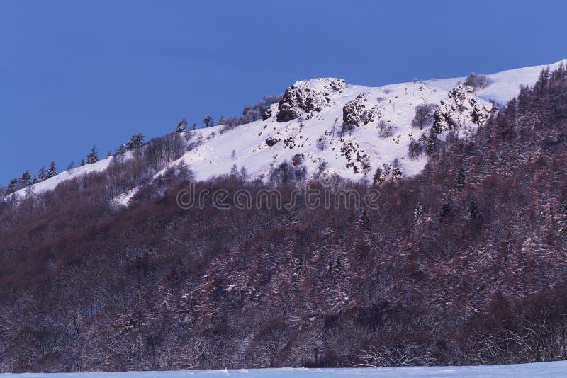 The Wrekin Hill Summit in Snow at Winter stock photos