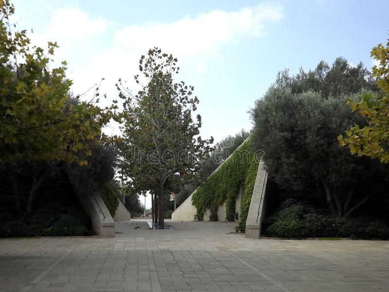 On the southern slope of the famous biblical mountain Carmel is Rothschild Park. This is a magnificent botanical park royalty free stock photography