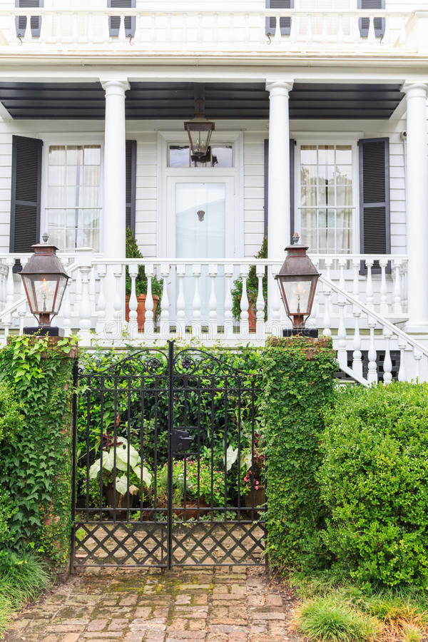 Southern states style mansion stock photography