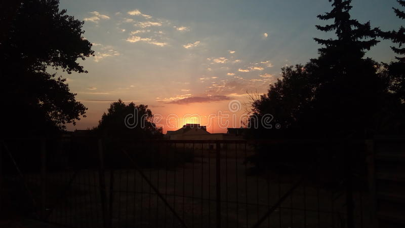 Southern sunset royalty free stock images