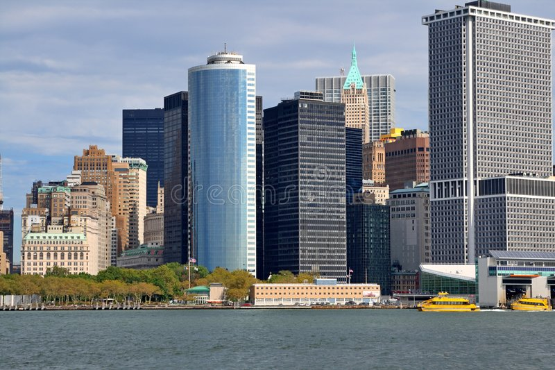 Southern Tip of Manhattan stock photo