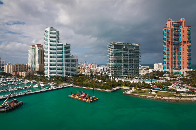 Download Southern Tip Of Miami Beach Stock Photo - Image of coast, boats: 83713054