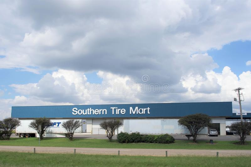 Southern Tire Mart, West Memphis, Arkansas. Southern Tire Mart is your source for America`s favorite quality brands. At locations throughout the southern United royalty free stock photo