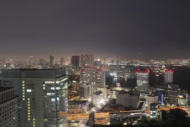 Southern Tokyo skyline as seen from World Trade Center. TOKYO cityscape at Hamamatsucho World Trading Center royalty free stock photos