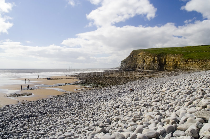 Southerndown Cliffs and People stock photos