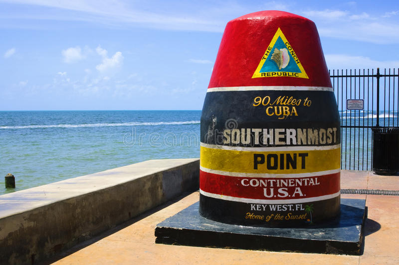 Southernmost point,key west royalty free stock photo