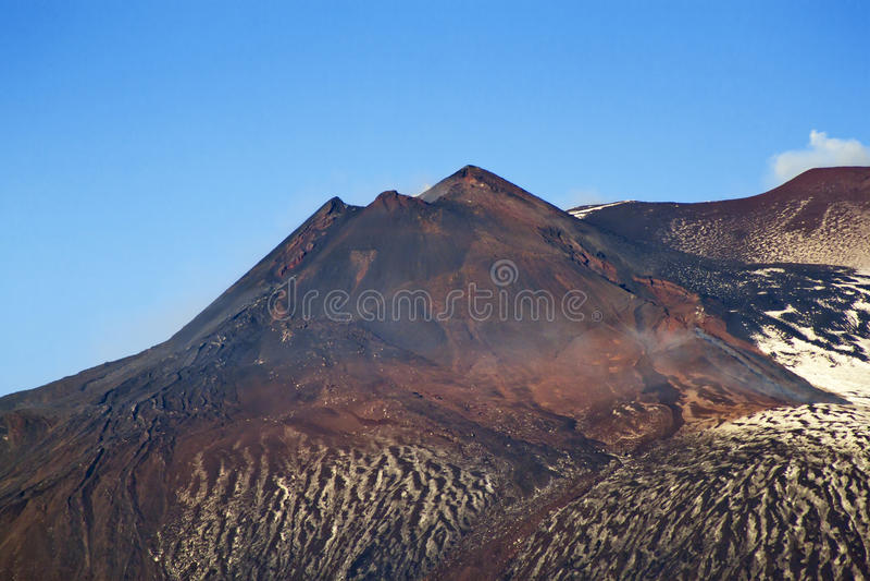 Southest火山口Etna 免版税库存照片