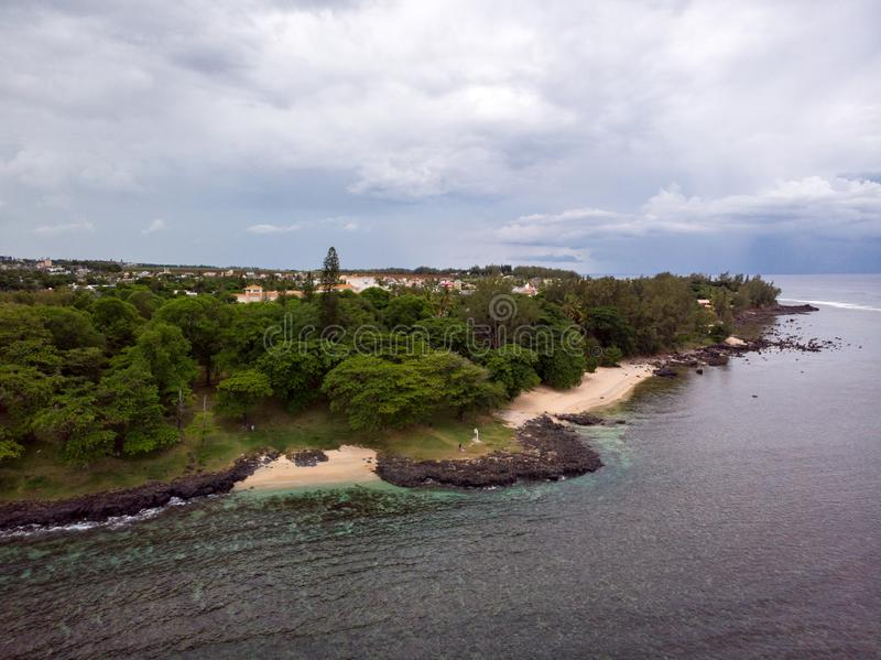 The Southest point of Mauritius. Africa Indian Ocean. Beautiful, summer 2019. Taken from drone royalty free stock photos