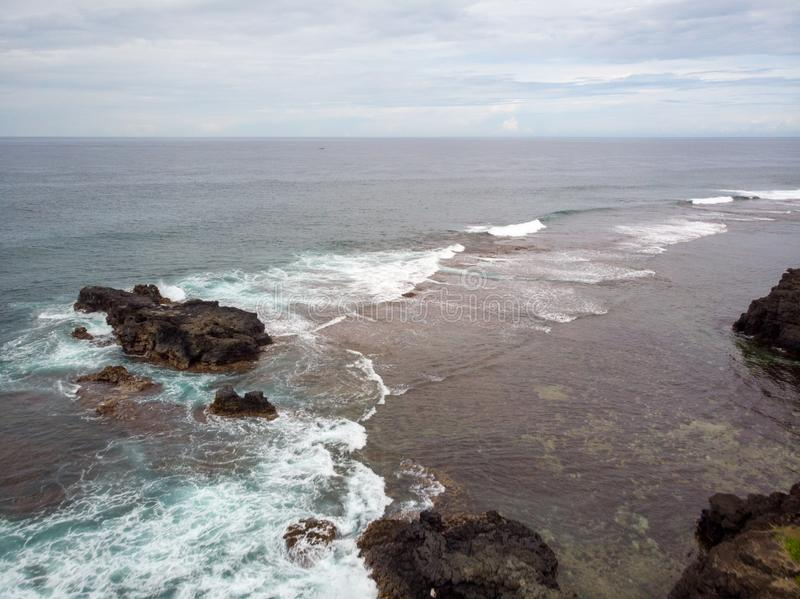 The Southest point of Mauritius. Africa Indian Ocean. Beautiful, summer 2019. Taken from drone stock photo