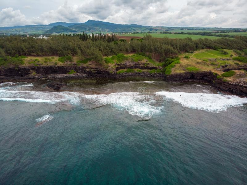 The Southest point of Mauritius. Africa Indian Ocean. Beautiful, summer 2019. Taken from drone stock photos