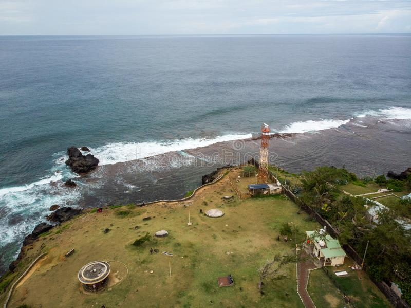 The Southest point of Mauritius. Africa Indian Ocean. Beautiful, summer 2019. Taken from drone stock photography