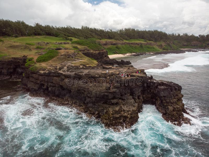 The Southest point of Mauritius. Africa Indian Ocean. Beautiful, summer 2019. Taken from drone royalty free stock images