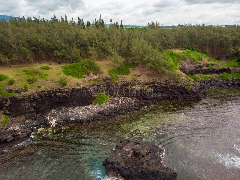 The Southest point of Mauritius. Africa Indian Ocean. Beautiful, summer 2019. Taken from drone royalty free stock image