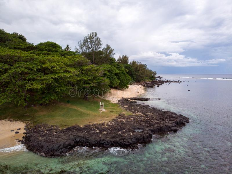 The Southest point of Mauritius. Africa Indian Ocean. Beautiful, summer 2019. Taken from drone royalty free stock photography