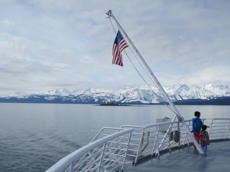 Southestalaska binnen Passage royalty-vrije stock afbeeldingen