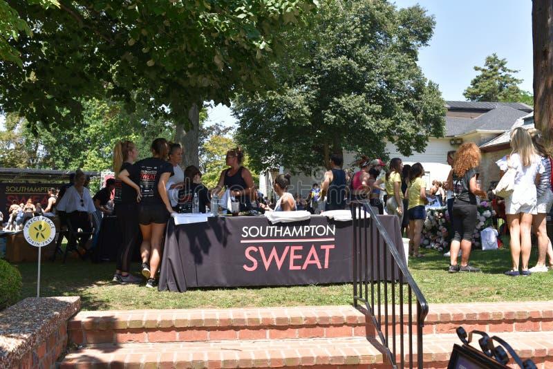 Southhampton city new york sweat fitness festival stock images