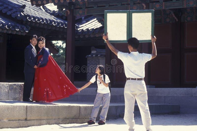SOUTHKOREA SEOUL TAPKOL PARKERAR BRÖLLOP fotografering för bildbyråer