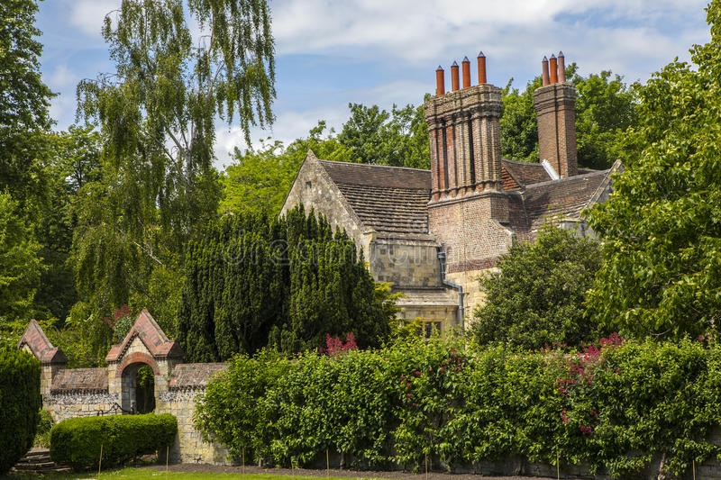 Southover Grange Gardens in Lewes. A view of Southover Grange from Southover Grange Gardens in the historic town of Lewes in East Sussex, UK royalty free stock photography