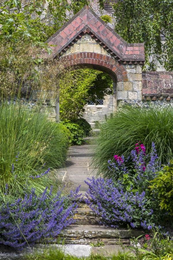 Southover Grange Gardens in Lewes. A view in Southover Grange Gardens in the historic town of Lewes in East Sussex, UK royalty free stock photo