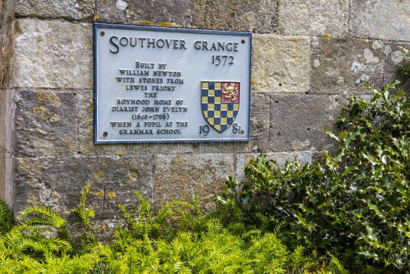 Southover-Gutshof in Lewes stockbild