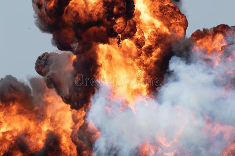 A cloud of smoke stock image