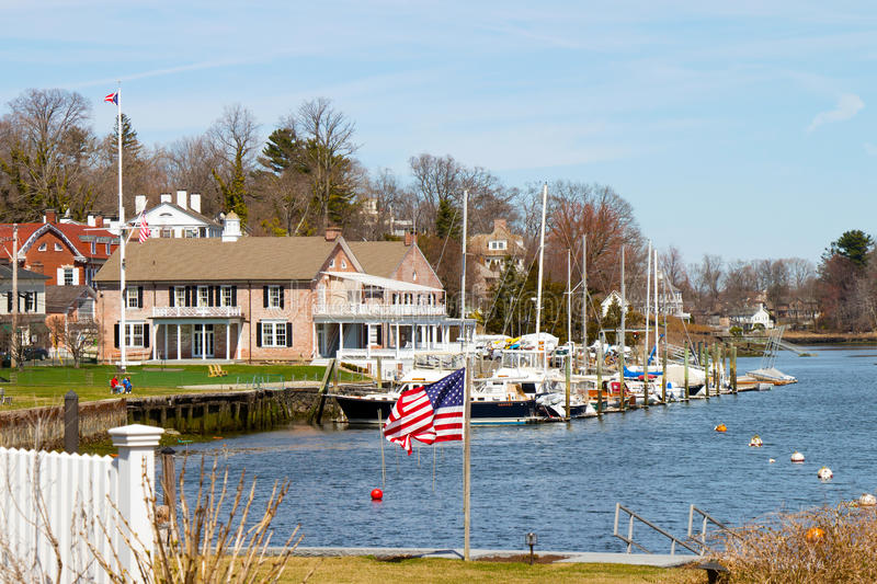 Southport Connecticut hamn royaltyfria bilder