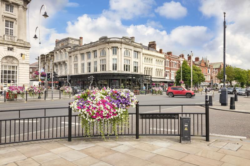 Southport, Merseyside, UK, The Busy Town Centre stock photo