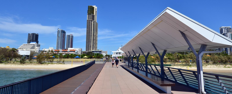 Southport mola złota wybrzeże Queensland Australia obraz stock