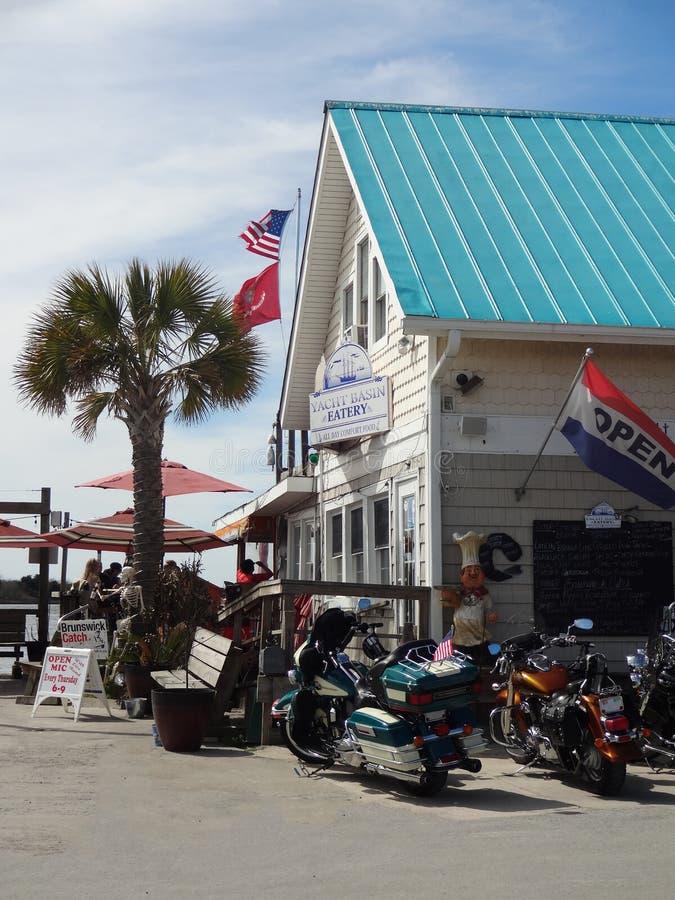 Southport Pólnocna Karolina Marina obrazy royalty free
