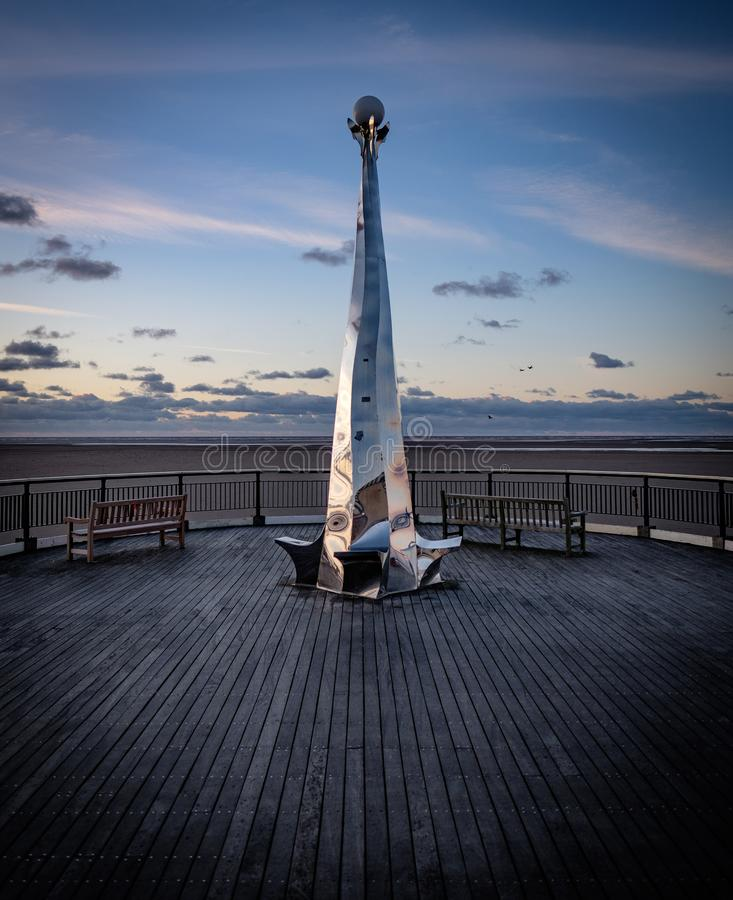 Southport Pier Sculpture stock photography
