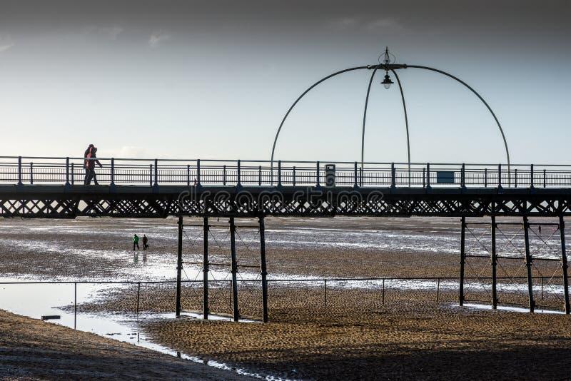 Southport Pier, Southport Merseyside. UK. stock photography