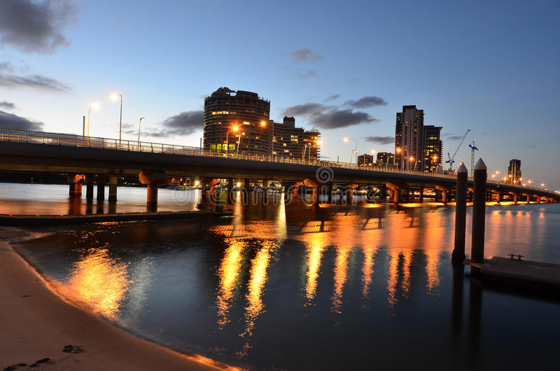 Southport-Skyline - Gold Coast Queensland Australien stockbilder