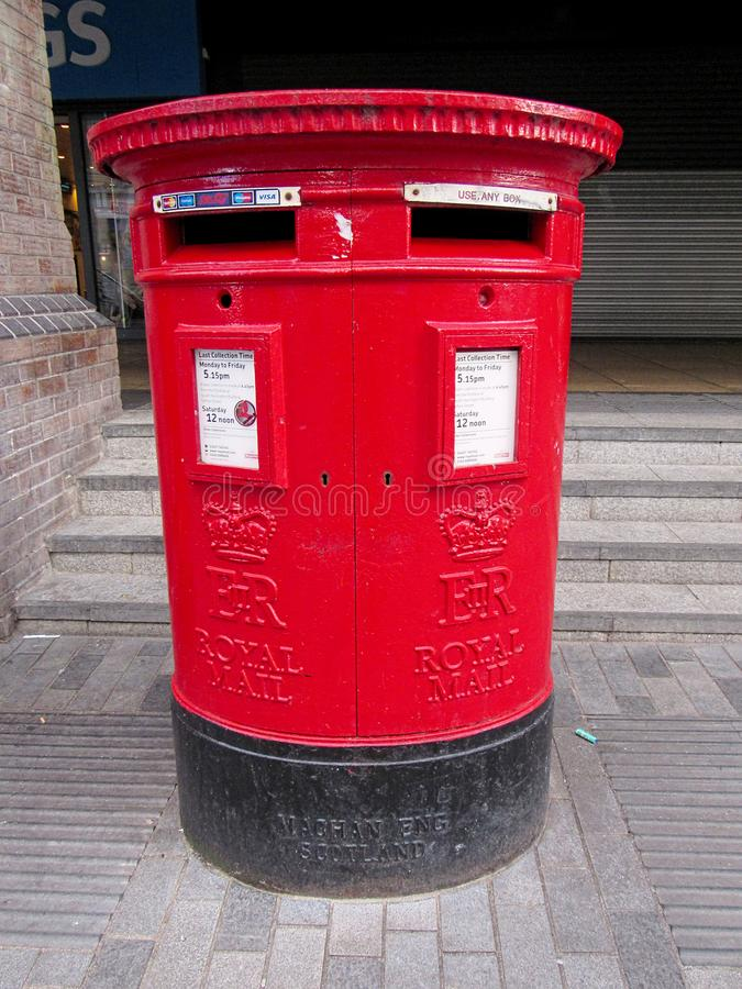 Red royal mail post box royalty free stock photos