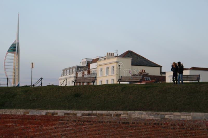 Southsea, Portsmouth, torre da vela de fortuna foto de stock