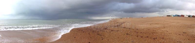 Southsea-Strand Panorams stockbilder