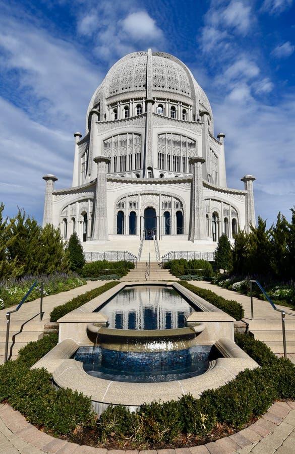 Southside van Baha& x27; i Tempel stock foto