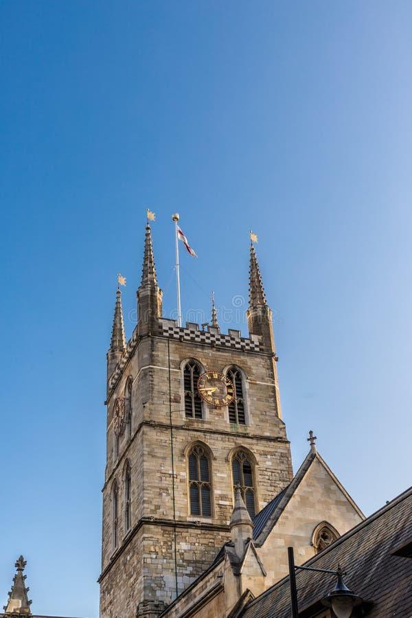 Southwark大教堂在市伦敦 图库摄影
