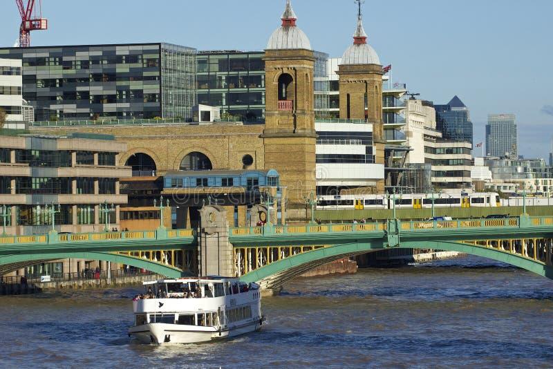 Southwark桥梁,伦敦 库存照片
