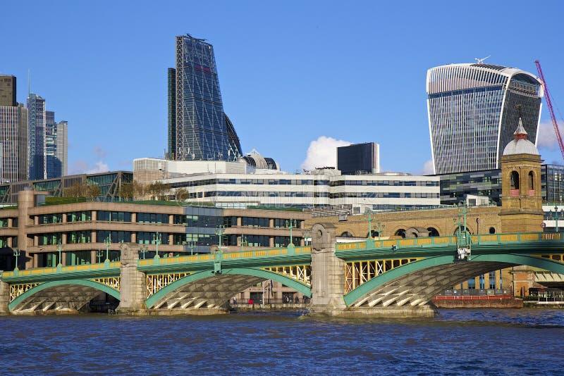 Southwark桥梁,伦敦 库存图片