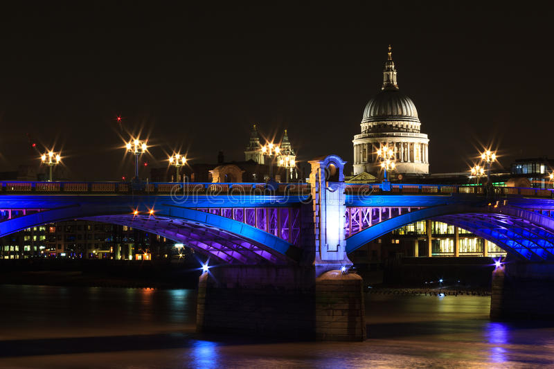 Image result for southwark bridge at night