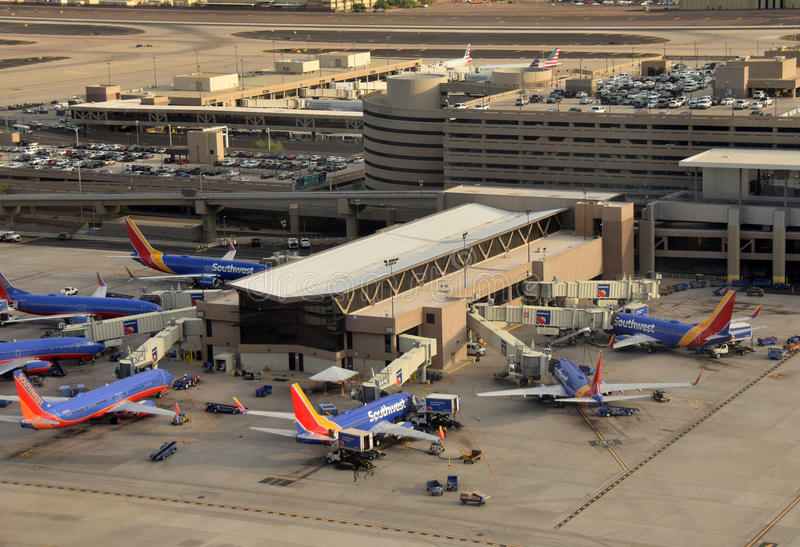 Southwest Airlines-Anschluss stockfoto