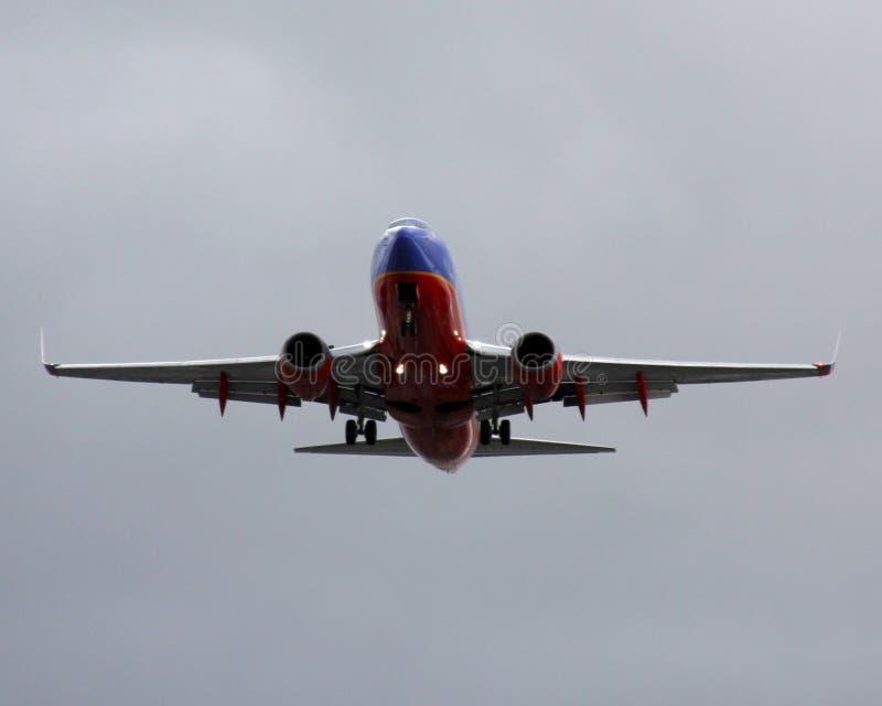 Southwest Airlines Boeing 737NG ungefähr zum Land an LOCKEREM stockfotografie