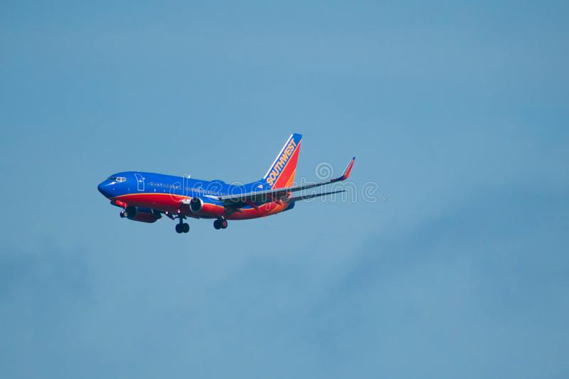 Southwest Airlines, das von Orlando International Airport 1 abreist lizenzfreies stockfoto