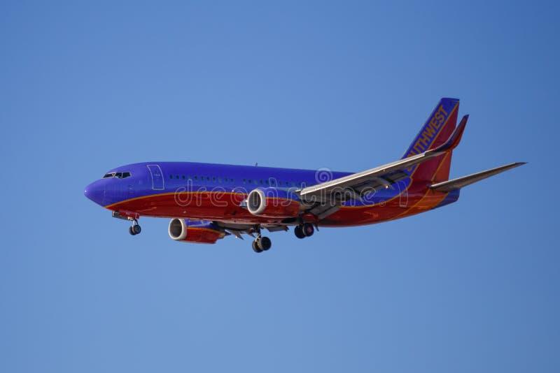 Southwest Airlines Jet Aircraft photographie stock libre de droits