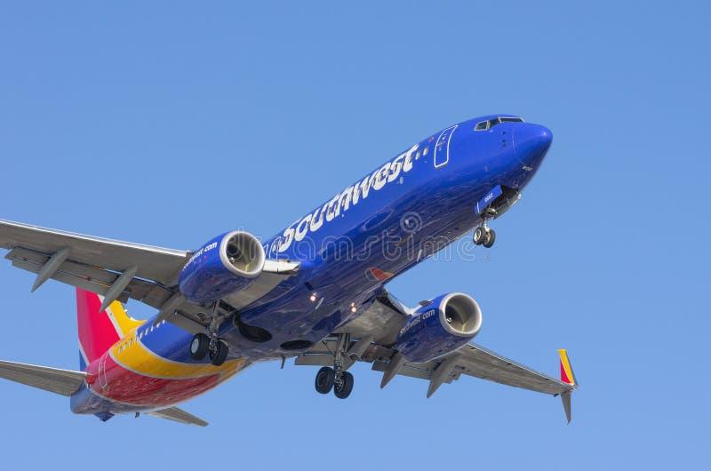 Southwest Airlines tryska zdjęcia stock